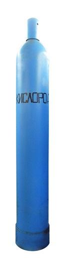 Баллоны выкрашены в голубой цвет