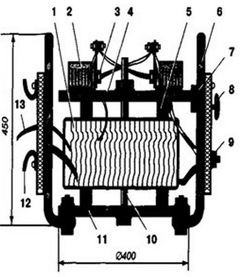 Схема трансформатора ТР-1